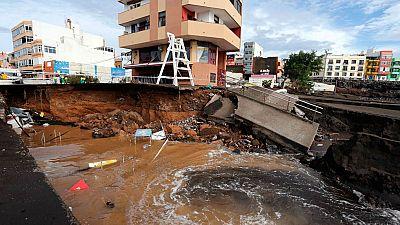 Investigan si el desprendimiento en un barranco en Tenerife está relacionado con las intensas lluvias