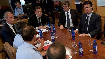 Rajoy visita a las familias de los militares muertos en el accidente de helicóptero