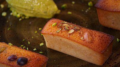 Bizcoho de crema de pistachos