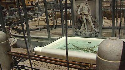 Vuelve el agua a la Fontana di Trevi tras año y medio de rehabilitación