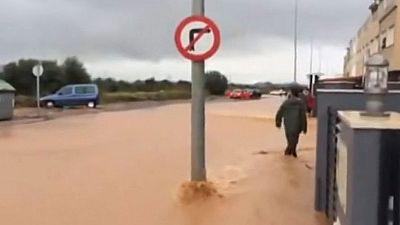El temporal causa destrozos materiales e inundaciones en bajos en las provincias del litoral mediterráneo