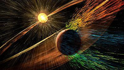 Fuertes tormentas solares acabaron con la atmósfera de Marte