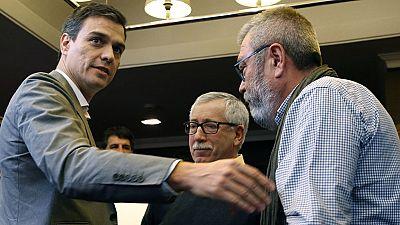 Pedro Sánchez promete a los sindicatos que endurecerá las causas de despido si gobierna