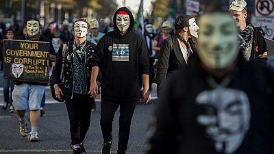 Al menos 50 detenidos tras la Marcha de las Mil Máscaras de Londres