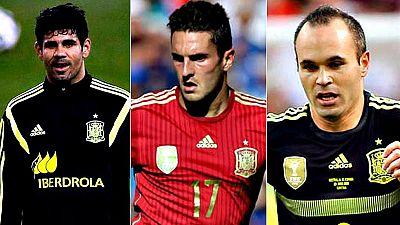 El seleccionador español, Vicente del Bosque, ha convocado a Diego Costa, Andrés Iniesta y Jorge Resurrección, 'Koke', para los dos próximos amistosos de la selección española ante Inglaterra y Bélgica, los días 13 y 17 de noviembre, respectivamente.