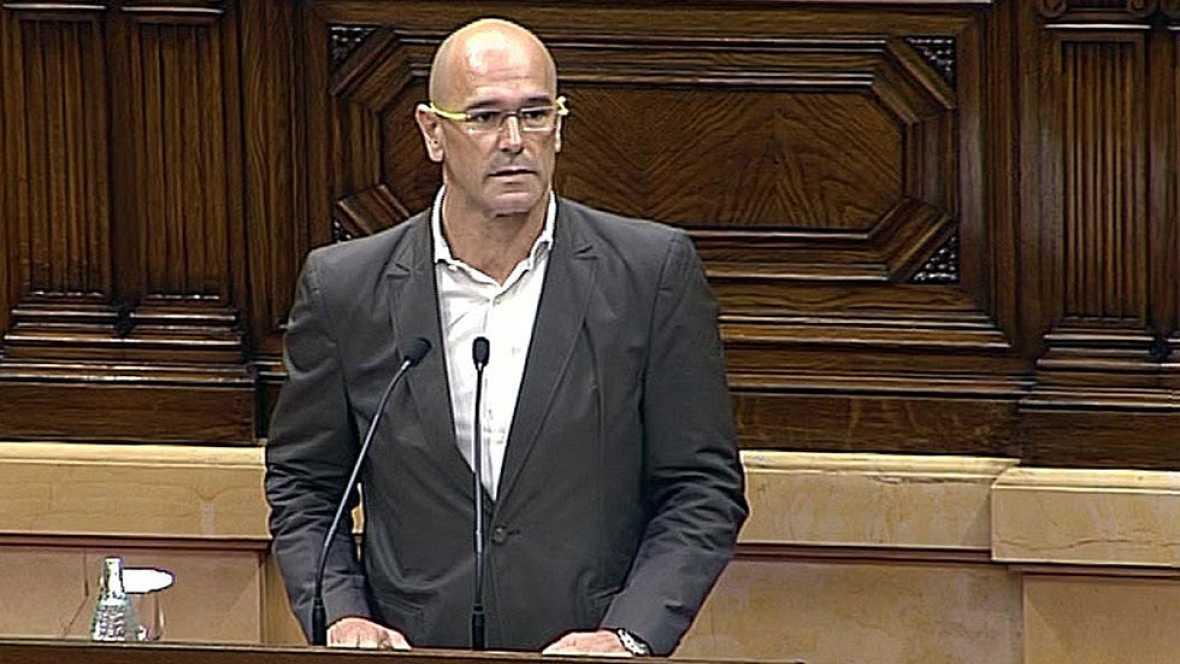 """Romeva presenta la resolución independentista para el """"inicio de una república catalana"""""""