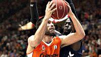 El Valencia Basket se ha llevado una gran victoria por 85-78 ante el Laboral Kutxa Baskonia y es col�der junto al Bar�a Lassa. Justin Hamilton y Fernando San Emeterio, brillantes mientras Darius Adams (29 puntos) lo intent� todo en el Laboral Kutxa B