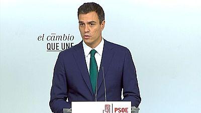 """Pedro Sánchez apoya al Gobierno ante una moción que """"traiciona la voluntad de la mayoría de los catalanes"""""""