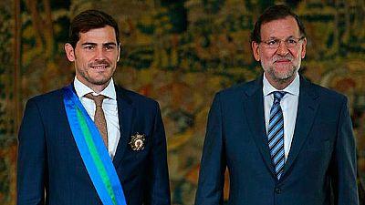 Casillas recibe la Gran Cruz de la Órden al Mérito Deportivo
