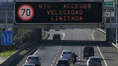 El Ayuntamiento de Madrid reduce la velocidad máxima de circulación debido a los altos niveles de contaminación