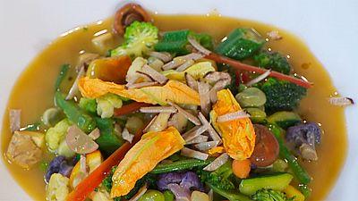 Receta de cazuela de verduras