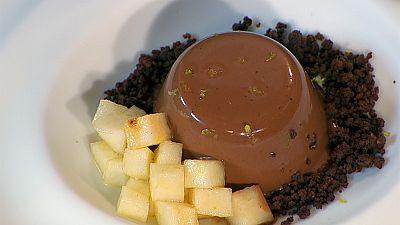 Receta de panna cotta de chocolate y caramelo