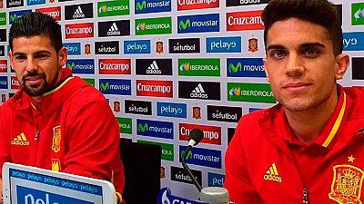 Nolito y Bartra, en rueda de prensa, han expresado el temor que existe en la selección tras los atentados en París y su próximo partido amistoso en Bélgica.