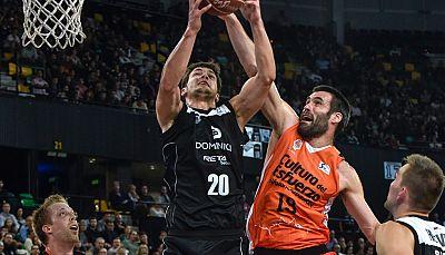 El Valencia Basket ha mantenido su condición de invicto tras dos prórrogas en Miribilla ante el Dominion Bilbao Basket.