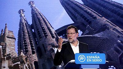 Mariano Rajoy presenta en Barcelona a sus cabezas de lista para las generales