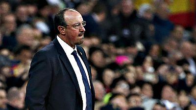 """El entrenador del Real Madrid, Rafael Ben�tez, no ha querido  valorar su futuro en el Real Madrid y que lo �nico que le """"preocupa  es recuperar pronto al equipo desde el punto de vista an�mico"""",  despu�s de encajar una goleada ante el Barcelona (0-4)"""