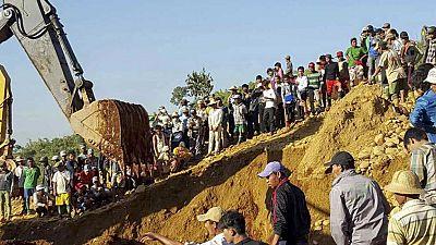 Casi 100 personas pierden la vida en un deslizamiento de tierras en Myanmar