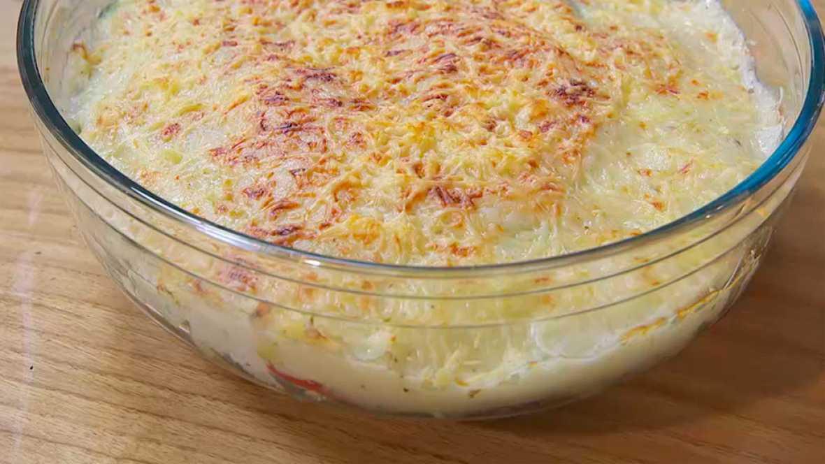 Receta de grat�n de verduras sin lactosa