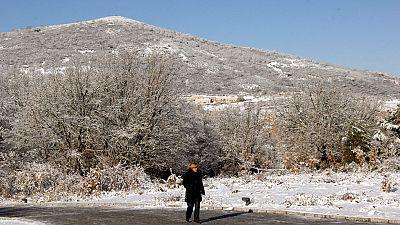 20 provincias amanecen en alerta por nieve, viento y bajas temperaturas