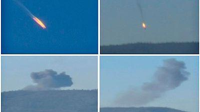 Turquía derriba un avión de combate ruso al que acusa de violar su espacio aéreo desde Siria