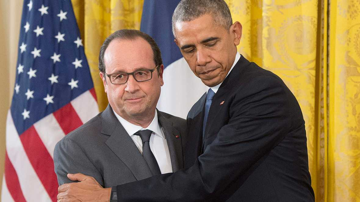 """Obama ante Hollande: """"El Estado Isl�mico debe ser destruido"""""""