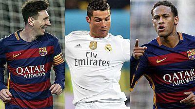 Messi, Ronaldo y Neymar, finalistas al Balón de Oro