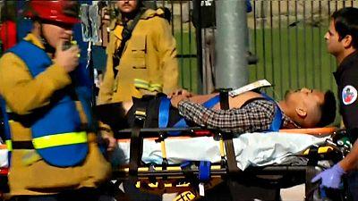 """Al menos """"20 víctimas"""" en un tiroteo cerca de Los Ángeles"""