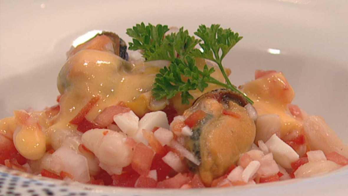 Cocina con sergio c ctel de legumbres y marisco cocina - Cocina con sergio pepa ...