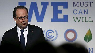 Hollande hace un llamamiento por el clima