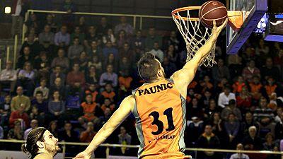 La doble P permitió que Cuspinera celebrara su primer triunfo con el Montakit Fuenlabrada frente a un Dominion Bilbao Basket que no hizo efectiva su remontada (79-75). Paunic jugó su mejor partido con la elástica fuenlabreña (17 puntos, 25 de valorac