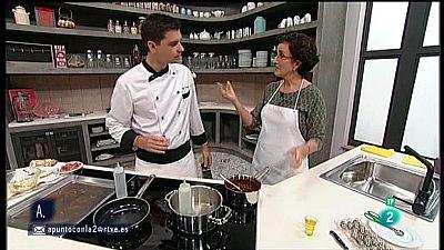 A punto con La 2 - Cocina a punto con Sergio Fern�ndez: Carpaccio de alcachofas con caviar de lima