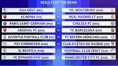 Roma, Arsenal y PSV, rivales de Madrid, Barcelona y Atlético