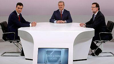 """S�nchez acusa de """"no ser decente"""" a Rajoy, que le responde que es una acusaci�n """"mezquina"""""""