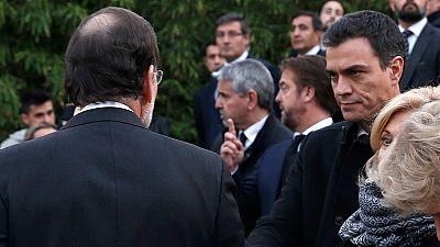 """Rajoy dice a S�nchez que """"hay que dar la talla"""" y el l�der del PSOE rechaza pedir disculpas tras el cara a cara"""
