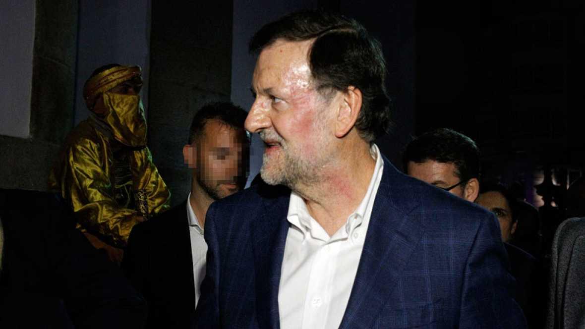 Un menor agrede a Rajoy durante su visita a Pontevedra en plena campaña