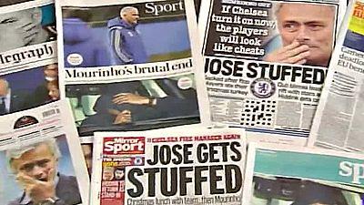 """Mourinho ocupa hoy las portadas de los medios británicos. """"The Special One"""" ha pasado a ser  'The Special Gone', algo así como el especial se va."""