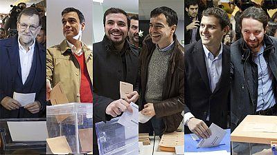Los candidatos votan en estas Elecciones con la esperanza de una alta participación