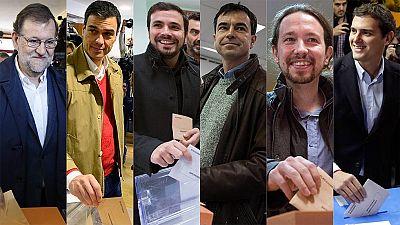 Los líderes de los principales partidos ya han depositado su voto