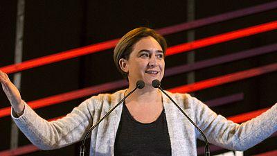"""La alcaldesa de Barcelona, Ada Colau, se ha mostrado este domingo orgullosa de Catalu�a tras conocer la victoria de EnCom�Podem en esta autonom�a al lograr 12 diputados en las elecciones generales: """"La ciudadan�a ha dado un pu�etazo sobre la mesa. La"""