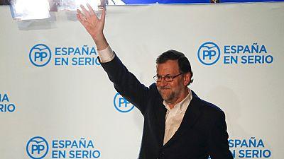 """El presidente del Gobierno y candidato del PP a la reelecci�n, Mariano Rajoy, ha asegurado que intentar� formar gobierno porque su formaci�n ha """"ganado"""" las elecciones generales 2015 con m�s de 1,6 millones de votos de diferencia sobre el segundo y t"""