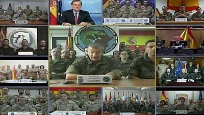 Rajoy agradece a los soldados que sean 'los mejores embajadores de España'