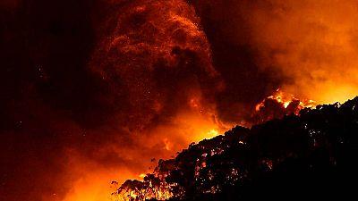 Decenas de casas destruidas por los incendios en Australia