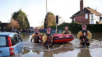Inundaciones al norte de Inglaterra
