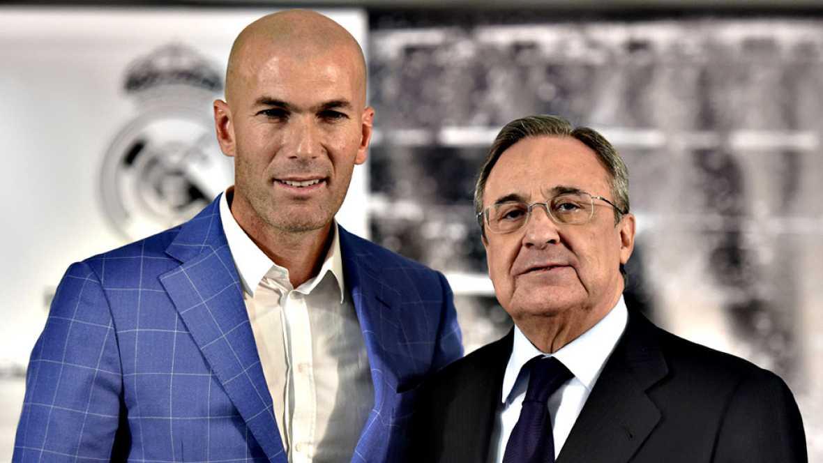 """El nuevo primer entrenador del Real Madrid, Zinedine Zidane, ha prometido """"meter todo el corazón"""" y ha apuntado que deben """"intentar hacerlo lo mejor posible para que este equipo a final de año gane algo"""", añadiendo que siente """"más emoción"""" ahora que"""