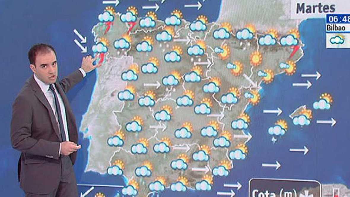 Viento fuerte en los litorales gallego y cantábrico