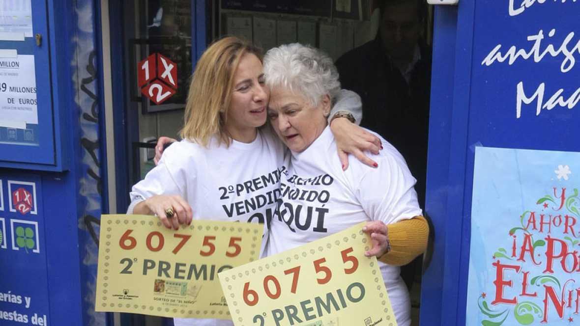 El segundo premio, el 60.755, se ha quedado íntegramente en Madrid