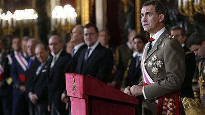 El rey pide una reacción valiente y decidida en el discurso de la Pascua Mililtar