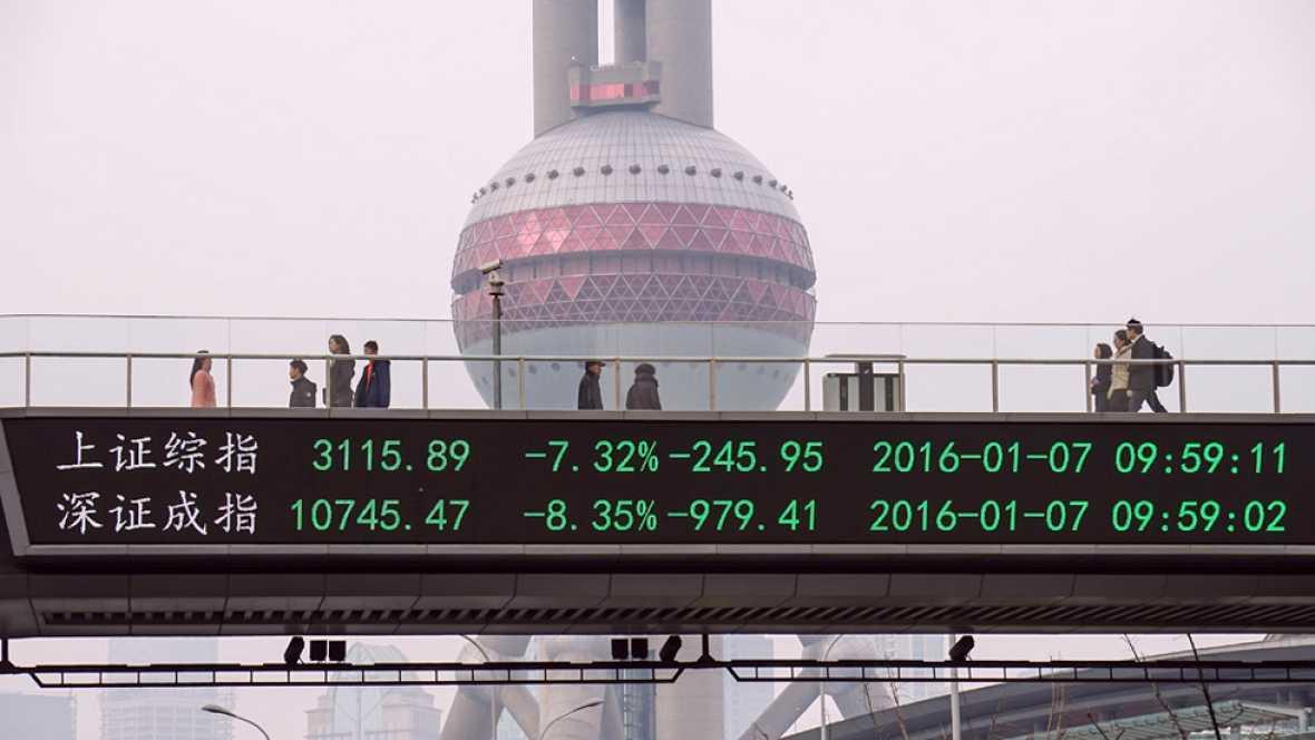 El crecimiento económico de China se ralentiza