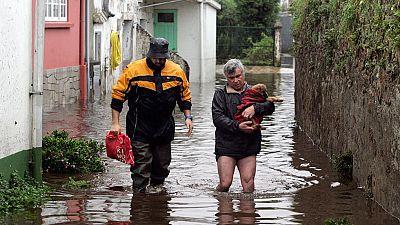 Varias localidades de Galicia en alerta por inundaciones debido al temporal de lluvias