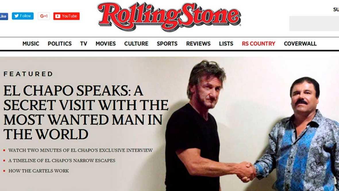 """La revista estadounidense Rolling Stone ha difundido este sábado una entrevista que hizo el actor Sean Penn a Joaquín """"El Chapo"""" Guzmán cuando el narcotraficante mexicano estaba aún en fuga.La entrevista fue hecha en varias reuniones que se llevaron"""